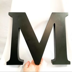 Other - Large black letter M wall/shelf decor